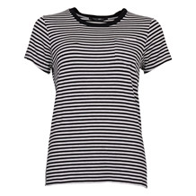 MAISON SCOTCH SLIM FIT ROUND NECK TEE BLACK