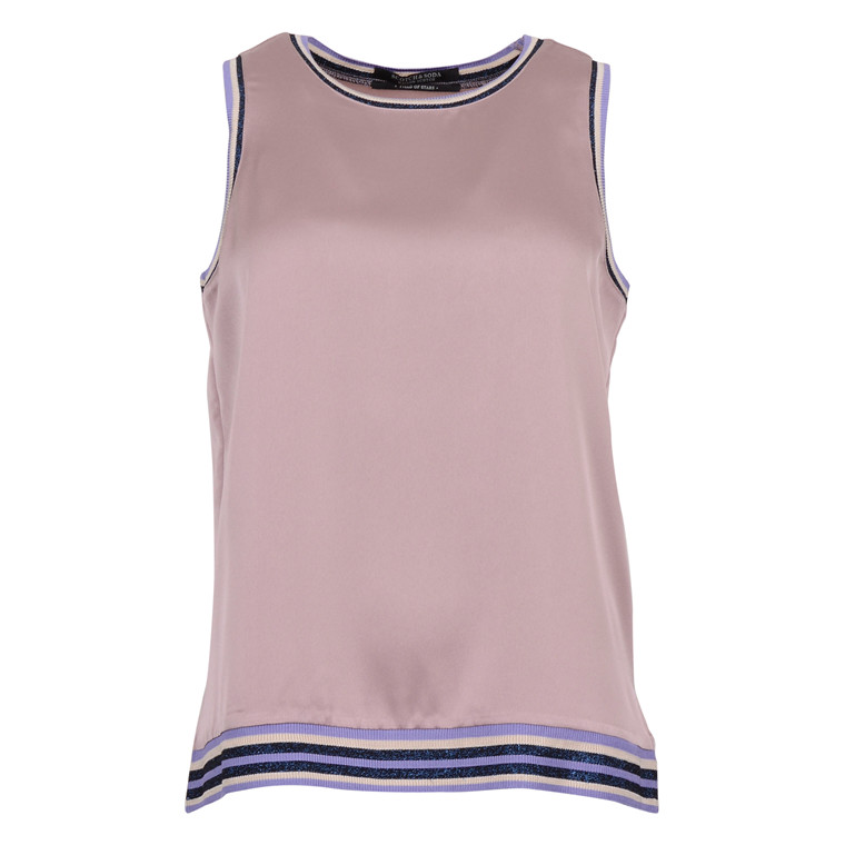 MAISON SCOTCH TOP W. SPORTY LUREX RIBS