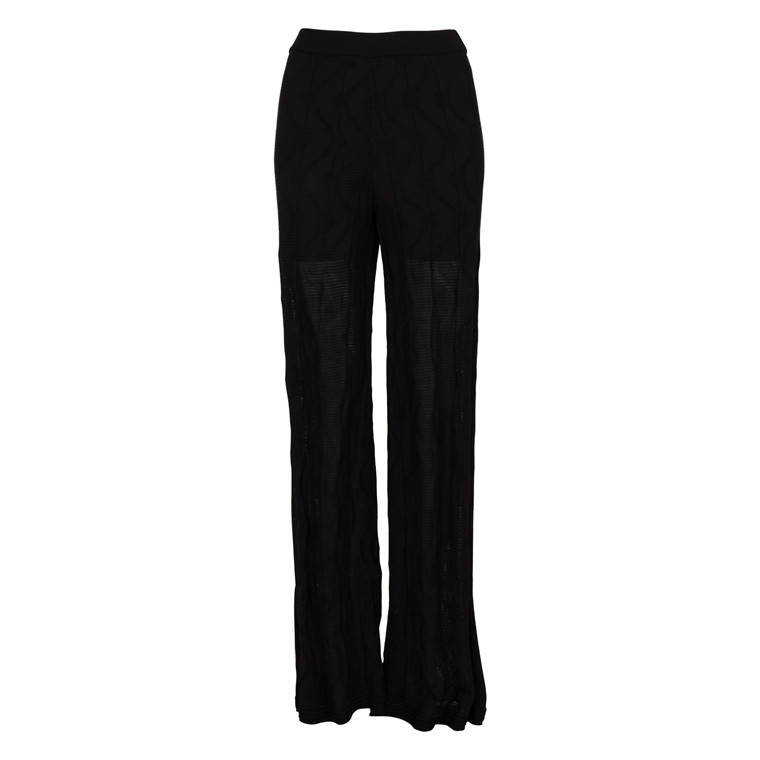 MISSONI ITALY WAVE WIDE KNIT PANT