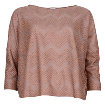MISSONI ITALY KNIT GLIMMER BLOUSE