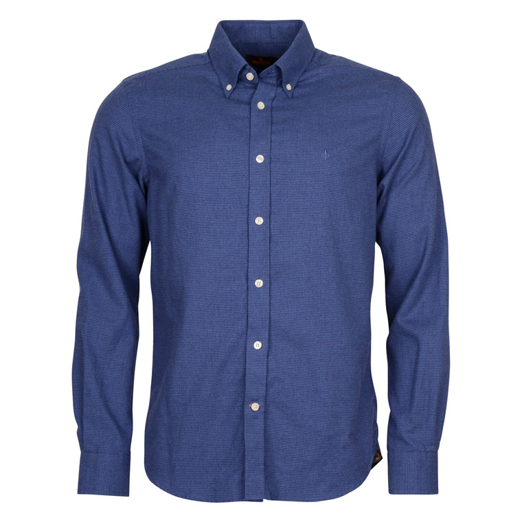 MORRIS DOUGLAS BLUE FLANNEL SHIRT