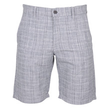 NN07 CROWN CHECK LINEN SHORTS