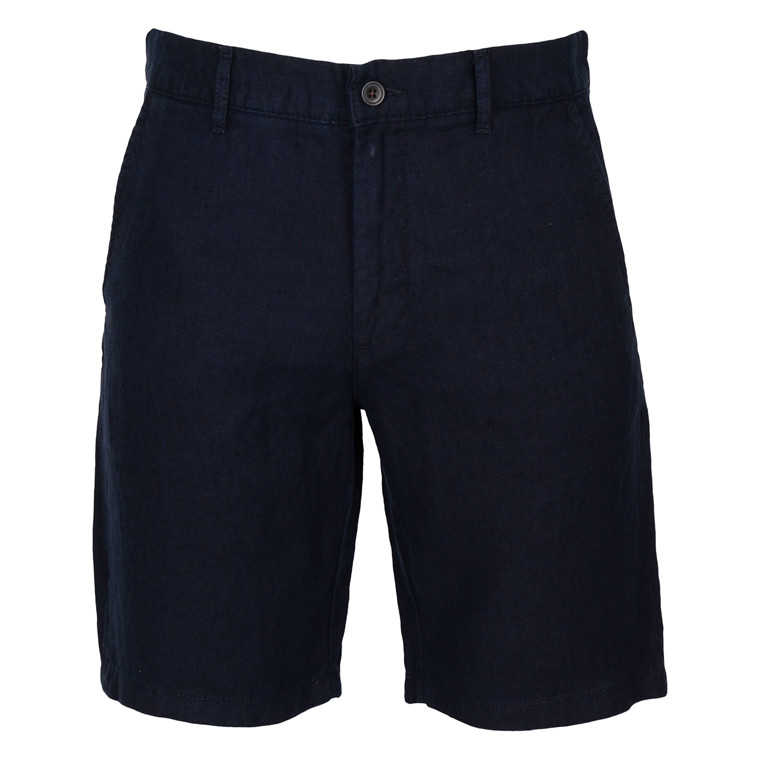 NN07 CROWN NAVY LINEN SHORTS