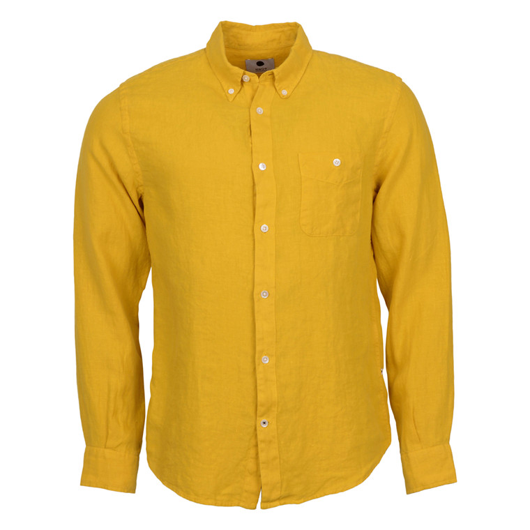 NN07 NEW DEREK LINNEN SHIRT-YELLOW