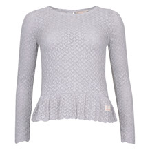 ODD MOLLY CARMEL SWEATER L GREY MEL
