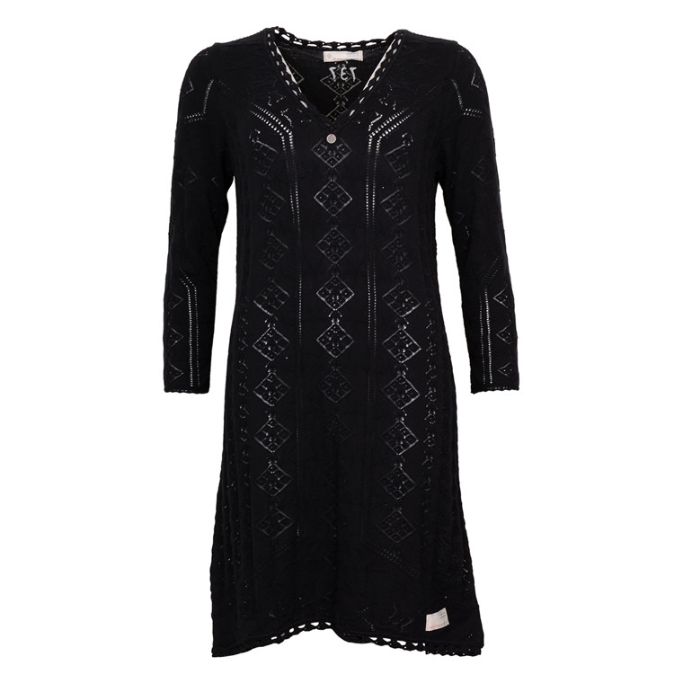 ODD MOLLY VIBRATO DRESS BLACK
