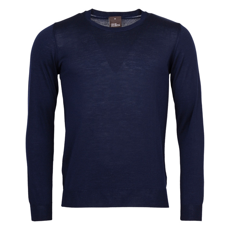 OSCAR JACOBSON CUSTER MERINO R.NECK-210