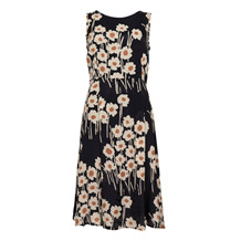 Ottodame ELA DRESS BLACK FLOWER