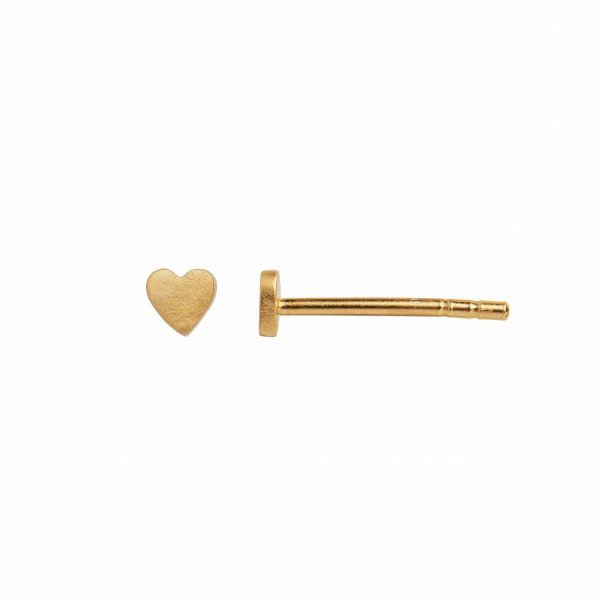 STINE A P. LOVE HEART EARRING GOLD