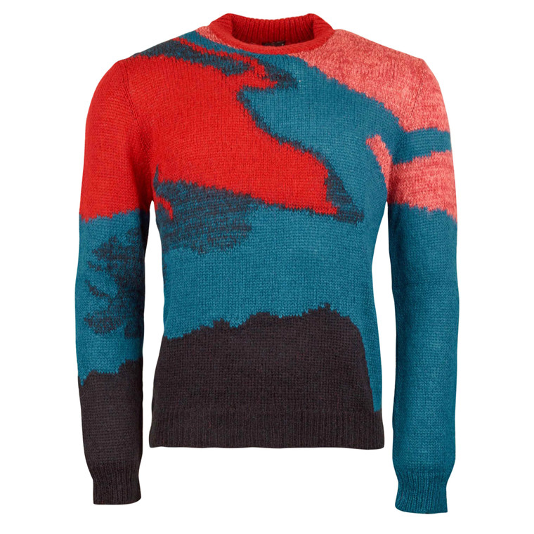 Paul Smith RED MIX CREW NECK PULLOVER