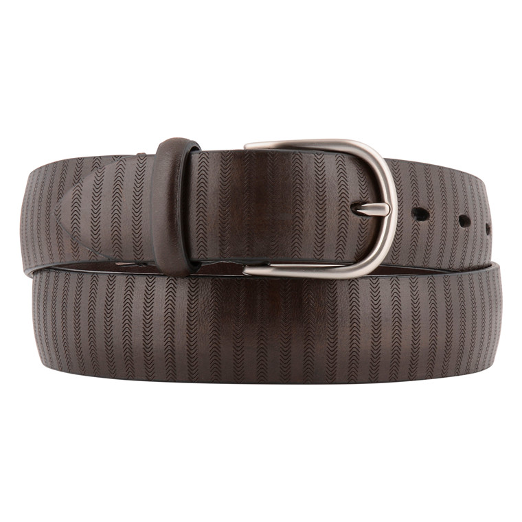 Paolo Vitale MENS BROWN ZIG ZAG BELT