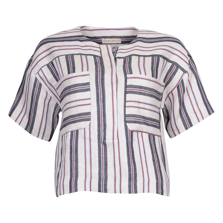 Paul & Joe sister ALHORIZON LINEN SHIRT