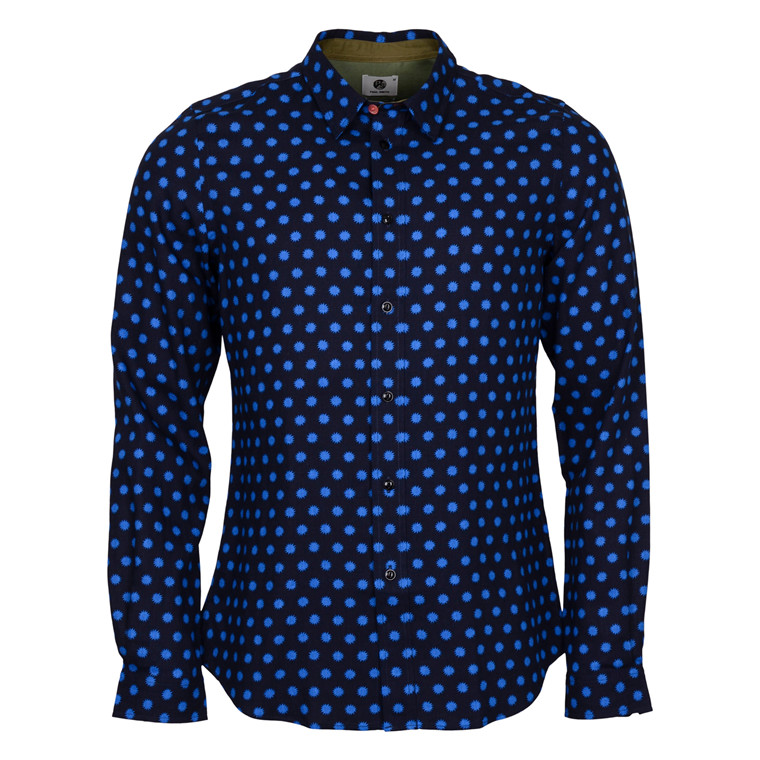 Paul Smith BLUE SPLASH PRINT SHIRT