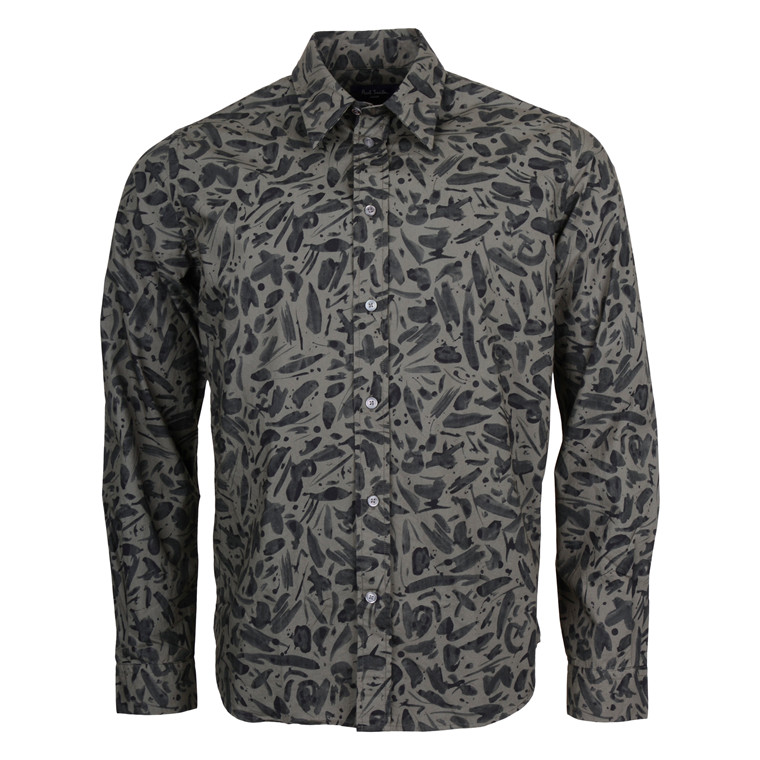 Paul Smith MENS GREEN PRINT SHIRT