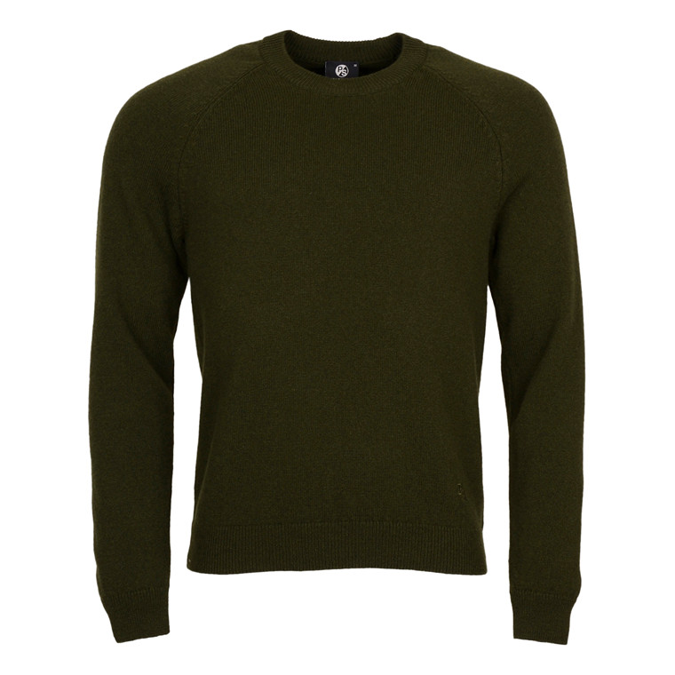 Paul Smith MENS MERINO CREW NECK-GREEN