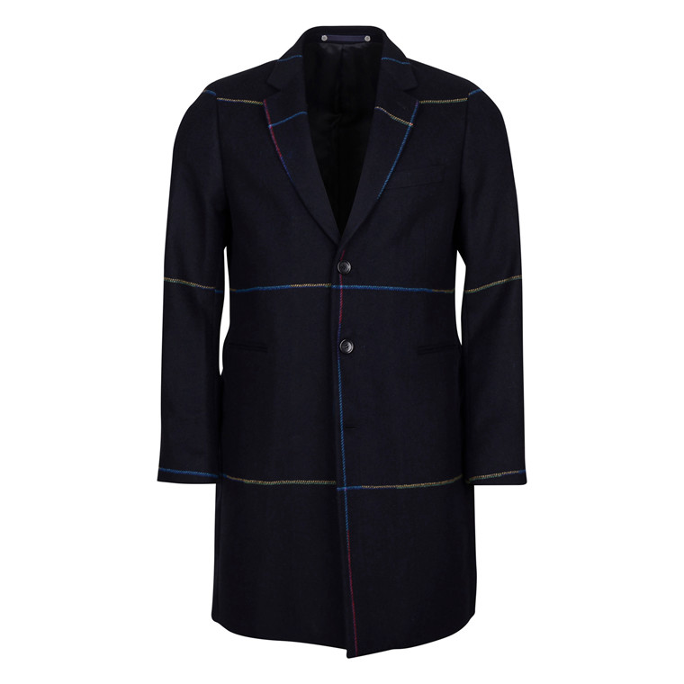 Paul Smith MENS MULTI CHECK OVERCOAT