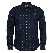 Paul Smith MENS NAVY SEASON PRINT SHIRT