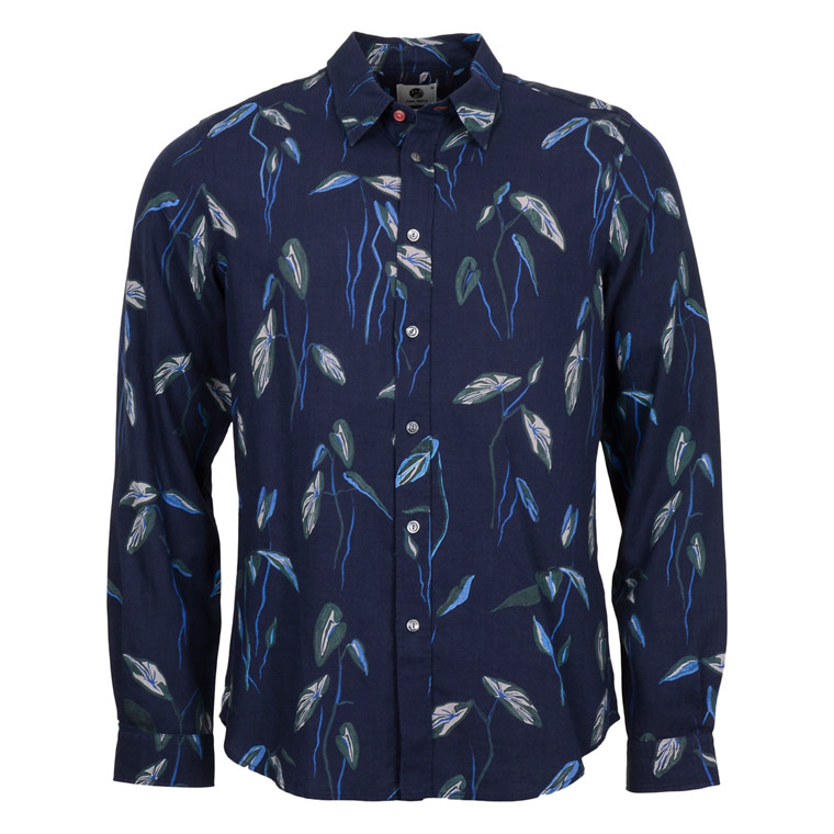 Paul Smith NAVY GREEN FLORAL PRINT SHIRT