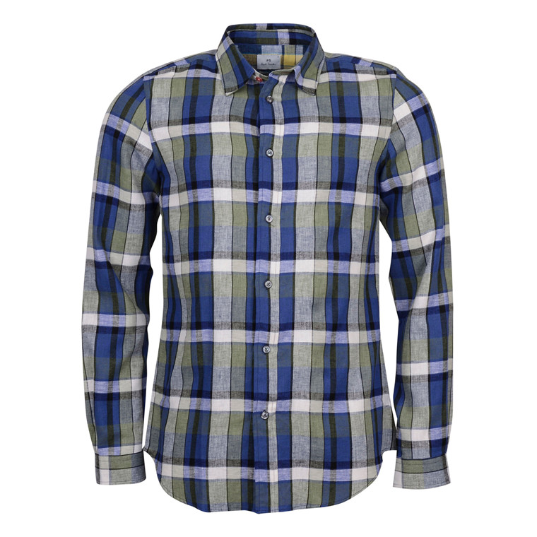 Paul Smith TAILORED FIT GREEN CHECK SHIRT