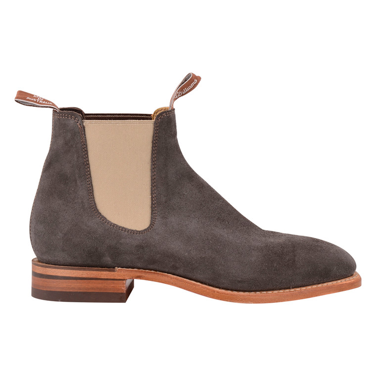 R.M WILLIAMS CRAFTMAN GUNMETAL SUEDE