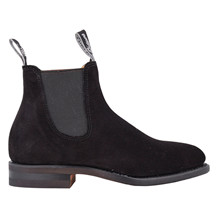 R.M WILLIAMS MACQUAIRE G SUEDE BLACK