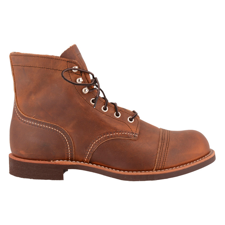 RED WING SHOES IRON RANGER BROWN