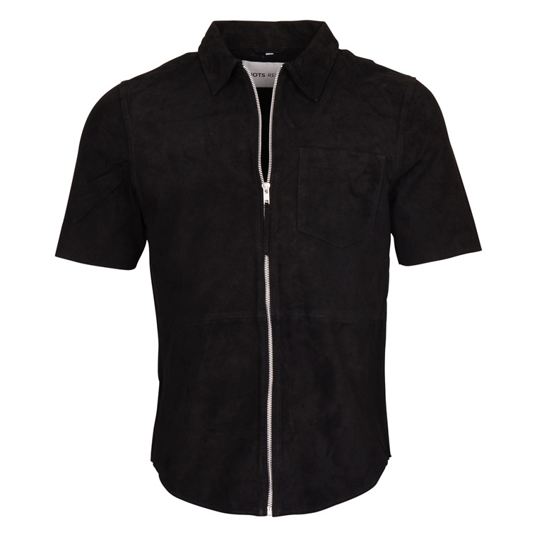RIOTS STUDIO JIMI BLACK SUEDE SHIRT