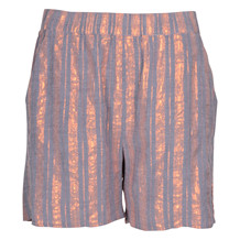 SAINT TROPEZ WIDE S. LUREX SHORTS COPPER