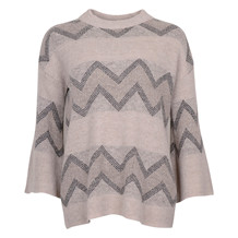 SAINT TROPEZ WIDE SLEEVE KNIT BEIGE