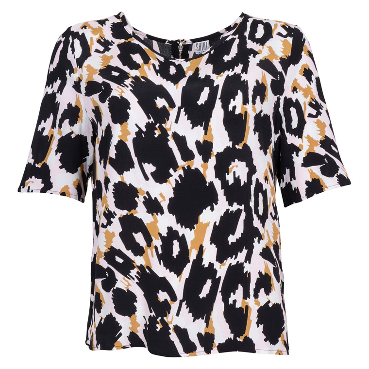 SAINT TROPEZ ANIMAL PRINTED TOP P. MAURE