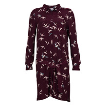 SAINT TROPEZ BIRD SHIRT DRESS WINE