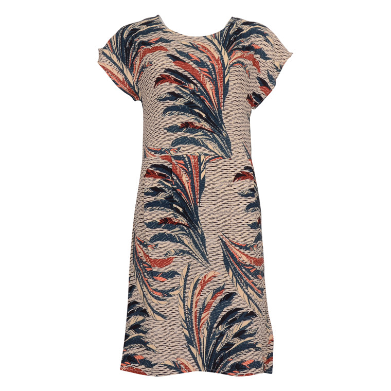 SAINT TROPEZ FEATHER P. WOVEN DRESS