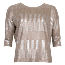 SAINT TROPEZ FOIL PRINTED RIB TOP