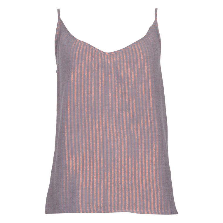 SAINT TROPEZ LUREX STRIPE TOP