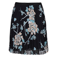 SAINT TROPEZ PLISSE SKIRT BLACK