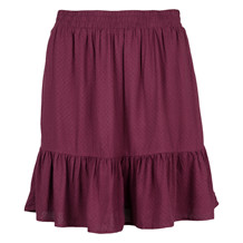 SAINT TROPEZ SKIRT W. RUFFLE DOT WINE