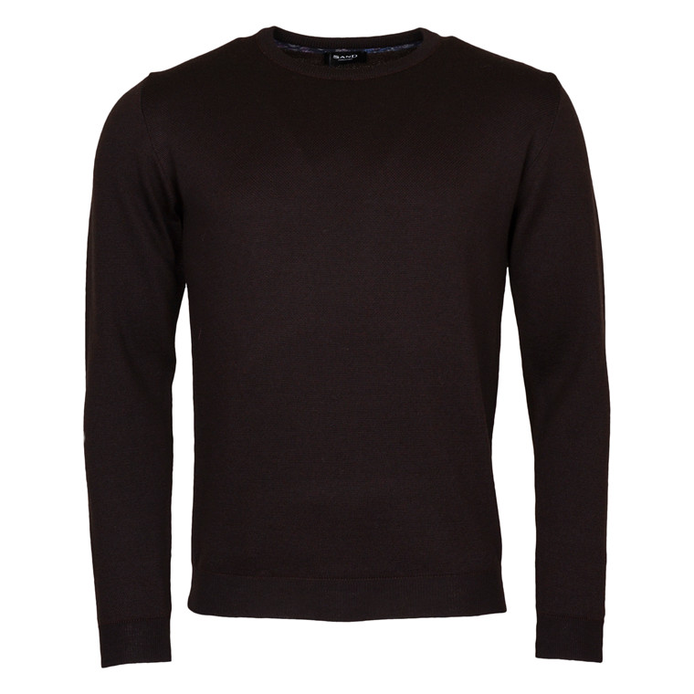SAND MERINO KNIT-BROWN