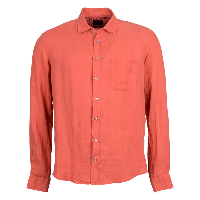 SAND SIMON TRIM SHIRT-ORANGE