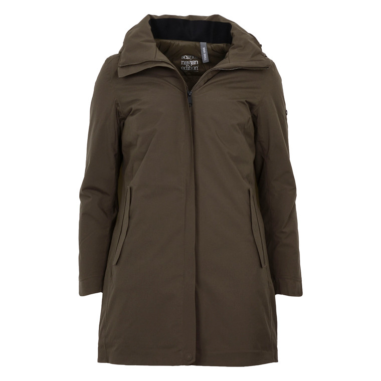 Scandinivian Edition WOMANS TOWN COAT GREEN