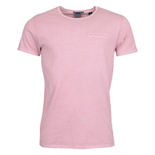 Scotch & Soda 1 POCKET TEE WASHED PINK