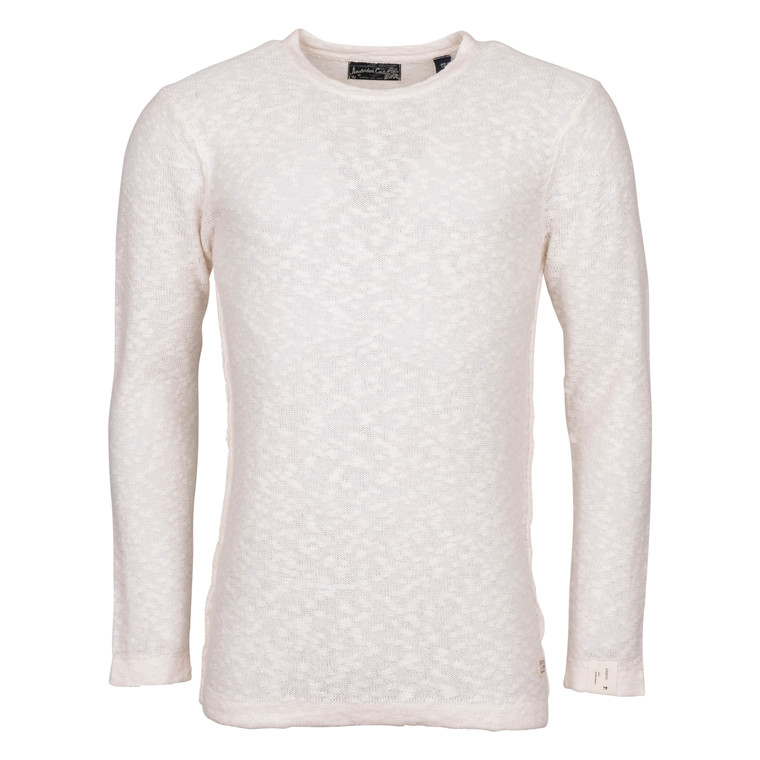 Scotch & Soda PULLOVER COTTON/LINEN WHITE