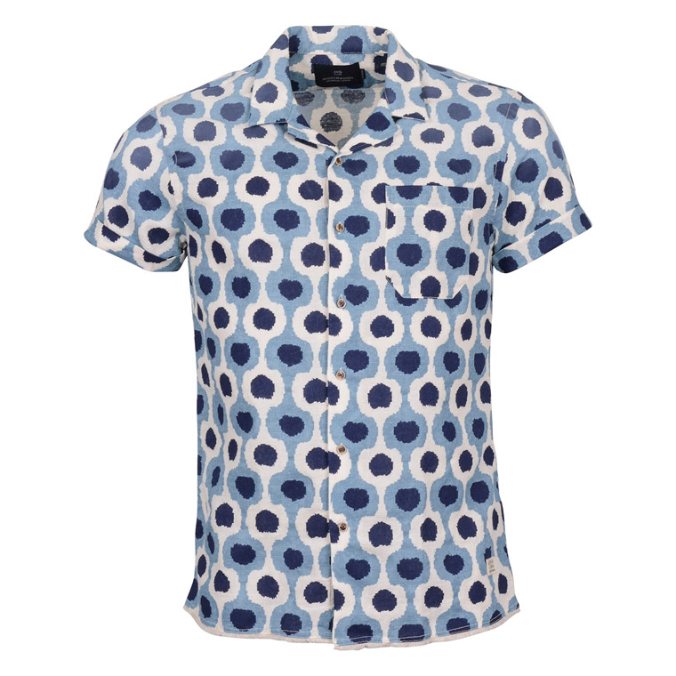 Scotch & Soda SHORTSLEEVE SHIRT BLUE