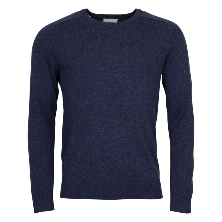selected homme BLADE MERINO SILK KNIT-BLUE