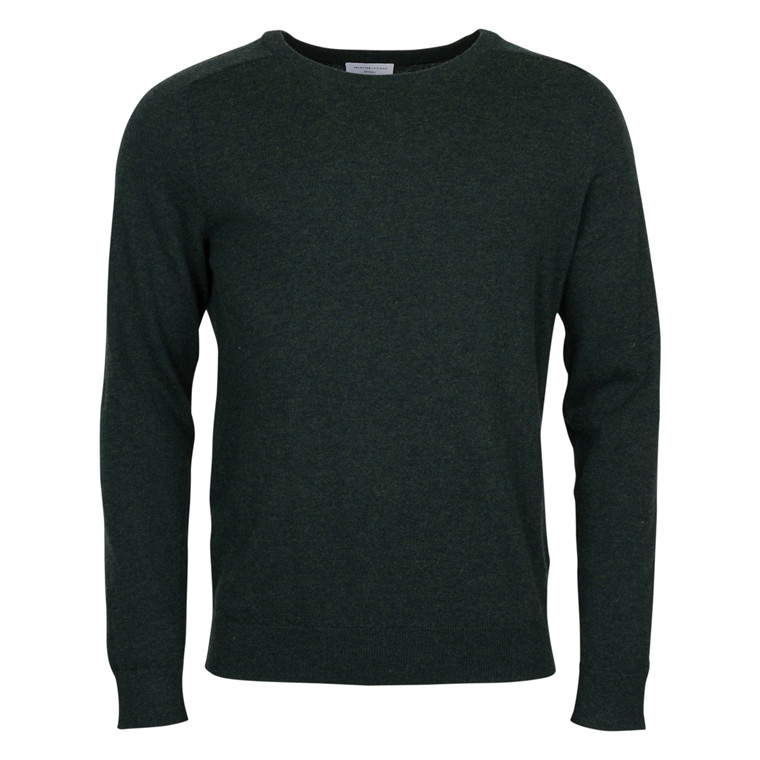 selected homme BLADE MERINO SILK KNIT-GREEN