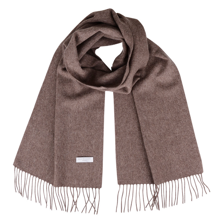 selected homme SLHTOPE WOOL SCARF BROWN