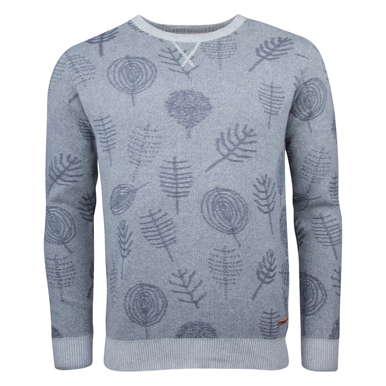 Knowledge Cotton Apparel JACQUARD LEAF KNIT