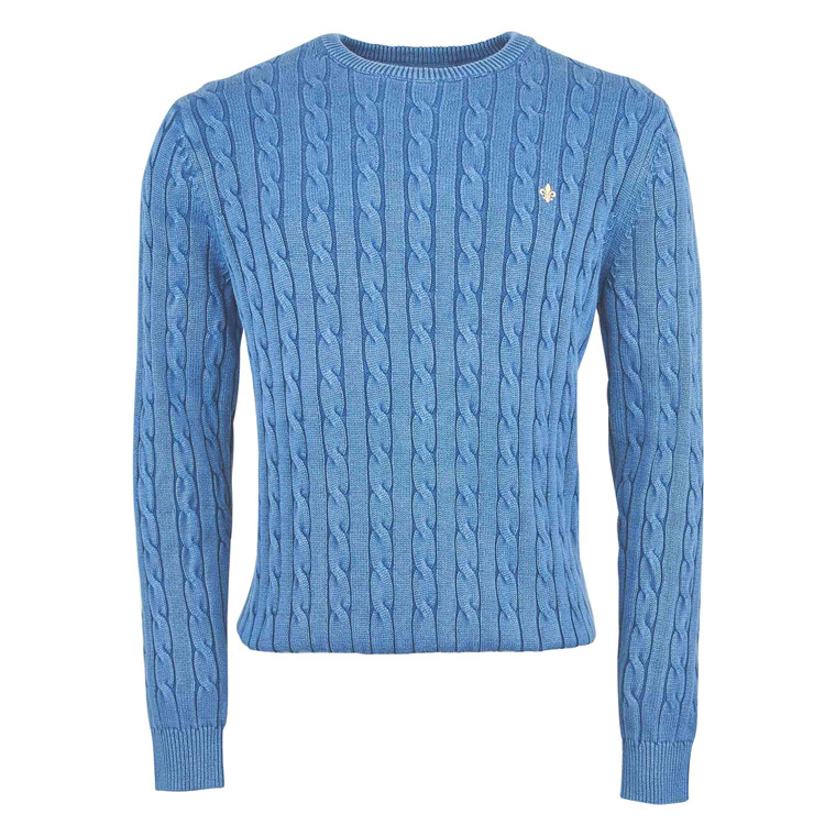 MORRIS PIMA COTTON CABLE KNIT-55