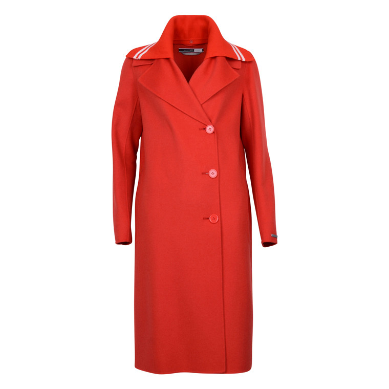 SPORTMAX CODE ERIK LONG RED COAT