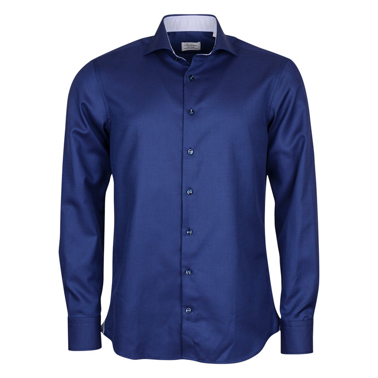Stenströms FITTED BODY NAVY SHIRT