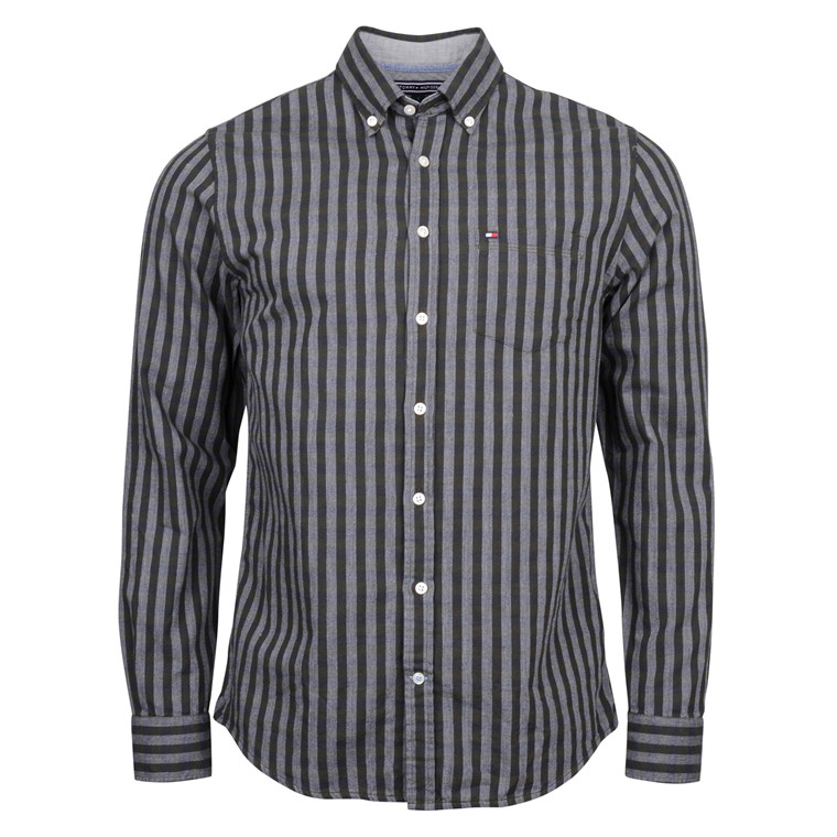 Tommy Hilfiger SHIRT GINGHAM GREYGREEN